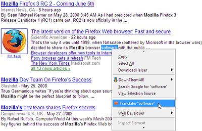 L'extension Sözlük(te)* pour Mozilla Firefox