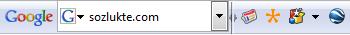 Google Sözlük(te)* Toolbar
